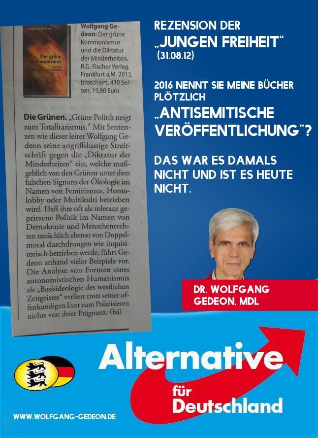 """August 2012: die Junge Freiheit veröffentlicht eine Rezension zu """"Der grüne Kommunismus und die Diktatur der Minderheiten"""""""