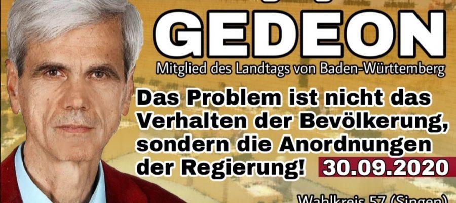 2020 09 30 Das Problem ist nicht das Verhalten der Bevölkerung sondern die Anordnungen der Regierung