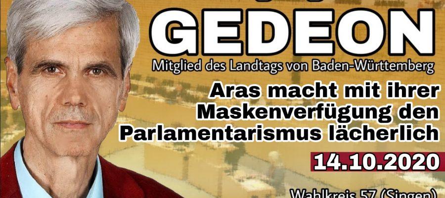2020 10 14 Aras macht mit ihrer Maskenverfuegung den Parlamentarismus laecherlich