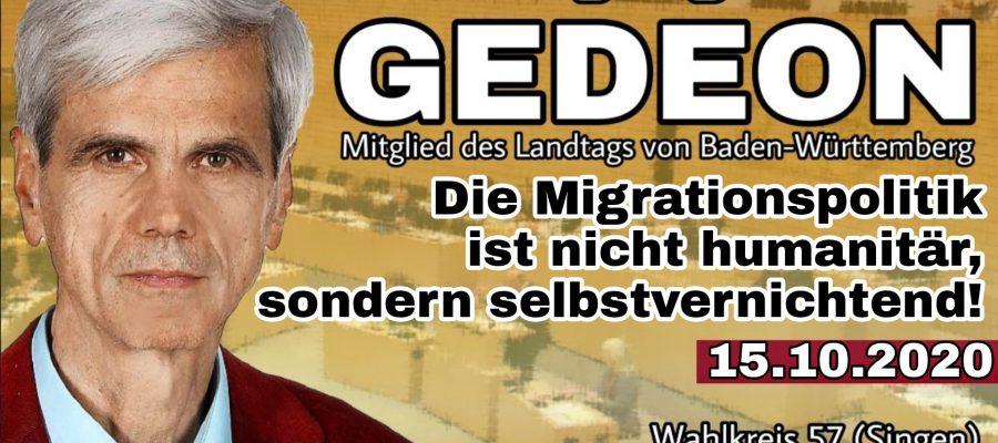 2020 10 15 Die Migrationspolitik ist nicht humanitaer sondern selbstvernichtend