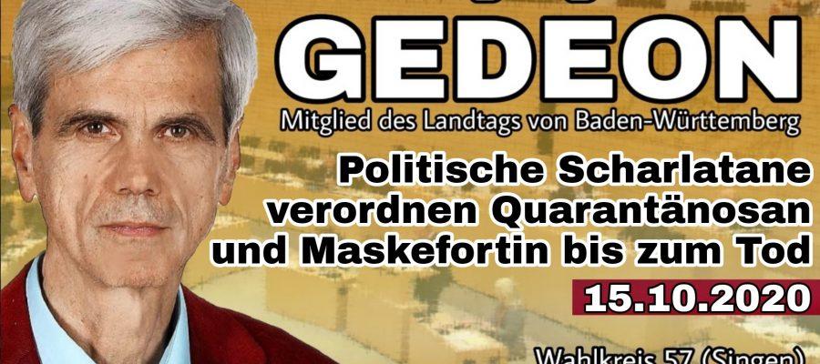 2020 10 15 Politische Scharlatane verordnen Quarantaenosan und Maskefortin bis zum Tod