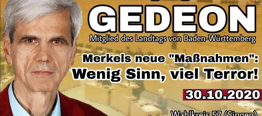 2020 10 30 Merkels neue Massnahmen Wenig Sinn viel Terror