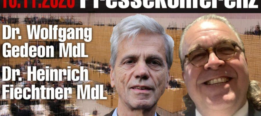 2020 11 10 Pressekonferenz von Dr. Gedeon und Dr. Fiechtner
