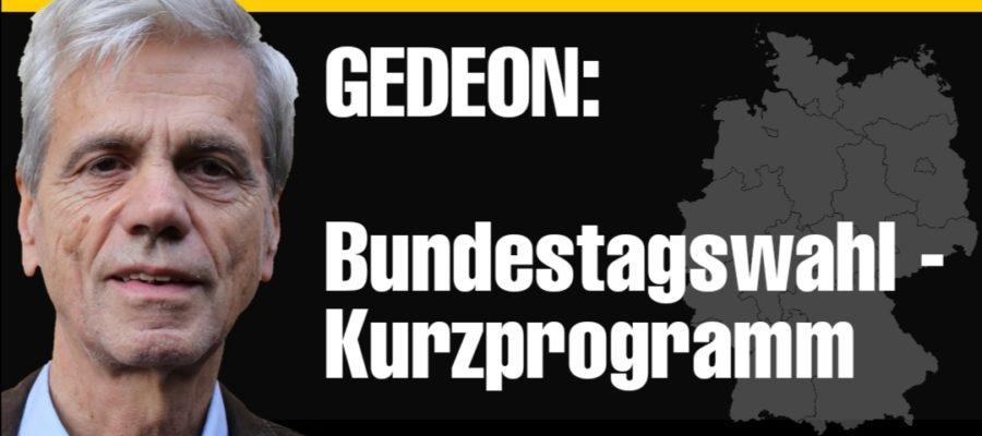 Bundestagswahl Kurzprogramm